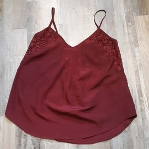 Talula burgundy lace top